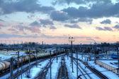 Ferroviaria di città — Foto Stock