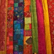 Colorful turkish fabric samples — Stock Photo