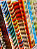 Colorful magazines — 图库照片