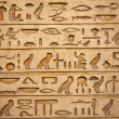 Hieroglyphs carved on the stone — Stock Photo