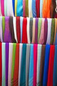 Colorful cashmere shawls — Stock Photo
