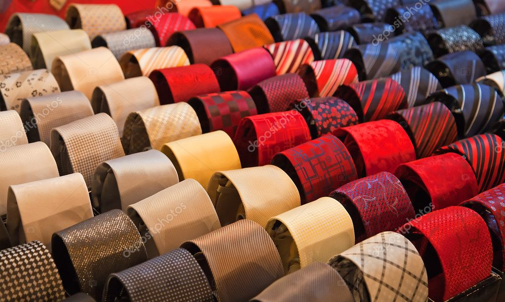 Shelf full of fine silk neckties on a Chinese street market — Stock Photo #5327159
