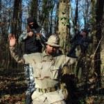 Soldier aiming terrorist — Stock Photo #4257898