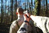 Hostage at gunpoint — Stock Photo