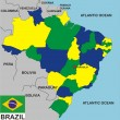 Brazil Map — Stock Photo
