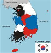 South korea map — Stock Photo