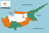 Mapa de chipre — Fotografia Stock
