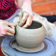 Hands of a potter — Stock Photo #5341312