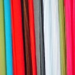 Coloured fabrics — Stock Photo