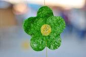 グリーンの布花 — ストック写真