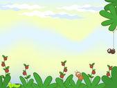 Comical natural background — Vector de stock