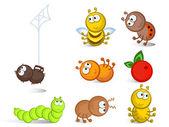Insectos aislado — Vector de stock