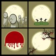 Set a Halloween — Stock Vector