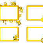 Bees frameworks — Stock Vector #4219412