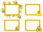 Cadres d'abeilles — Vecteur