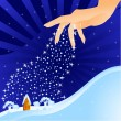 Hand (winter) — Stock Vector