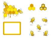 Bees set — 图库矢量图片