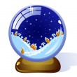 Stock Vector: Сristmas glass ball