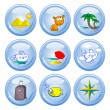 Tourism buttons — Stock Vector