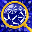 What is in snowflakes — Stock Vector