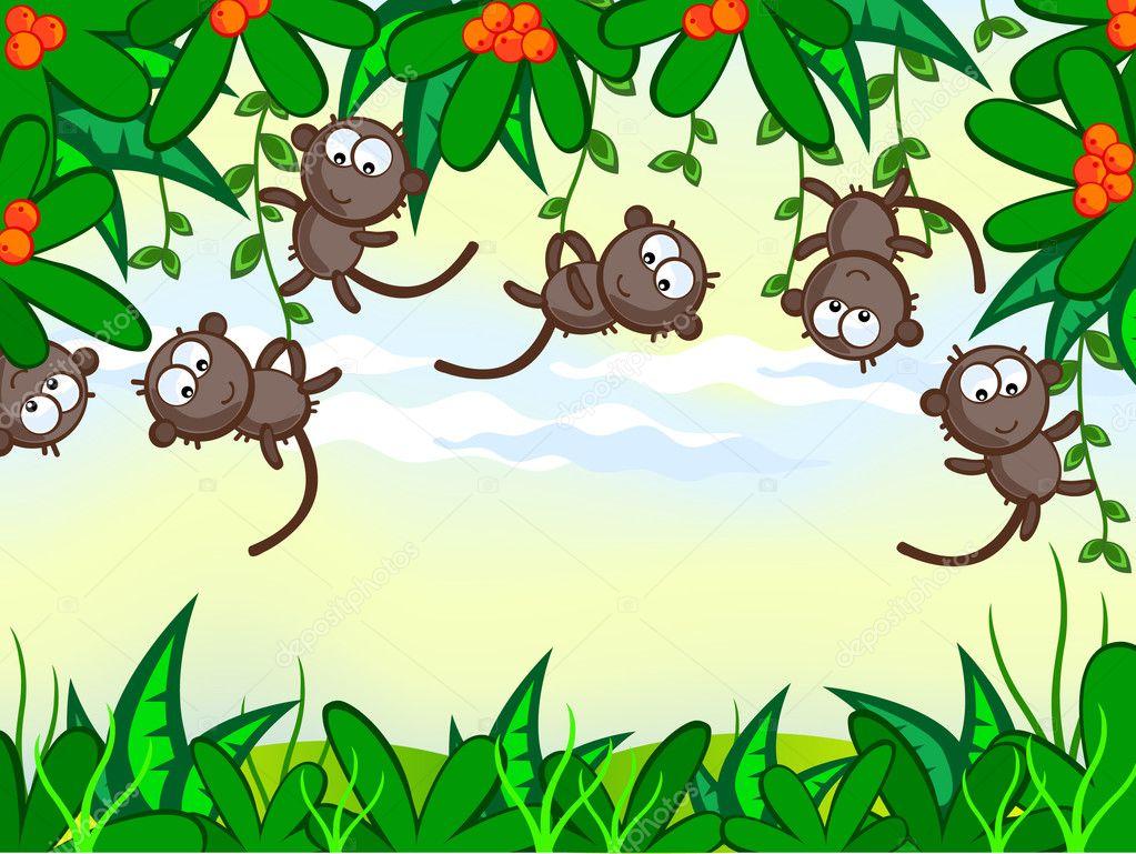 Scimmia divertente — vettoriali stock irazavod