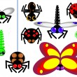 Icons insect — Stock Vector