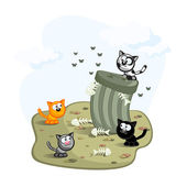 Street cats — Stock Vector