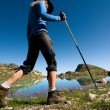 Stock Photo: Womhiking