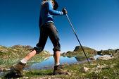 徒步旅行的女人 — 图库照片