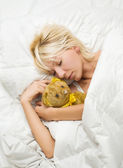 女人睡觉 — 图库照片