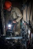 Technician working — Stock Photo