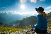 Hiking in the mountain — Stock Photo