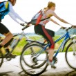 Cyclists in motion — Stock Photo #5000523