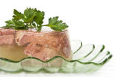 Jellied beef tongue. — Stock Photo