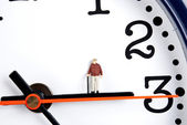 Time and man — Stock Photo