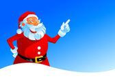 Happy Santa on winter background — Stock Vector