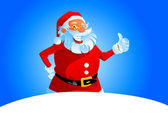 Santa show thumb up — Stockvector