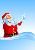 Santa shows up — Vector de stock