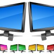 Stock Vector: Two modern monitors