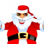 Cool happy Santa — Stock Vector
