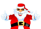 Cool happy Santa — Vector de stock