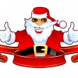 Cool Santa and Banner — Stockvectorbeeld