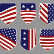 American shields — Stockvectorbeeld