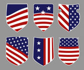 American shields — Vector de stock