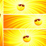 güneşli afiş — Stok Vektör #4700628