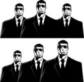 Hombres de negro — Vector de stock