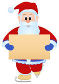 Santa with blank sheet — Stock Vector