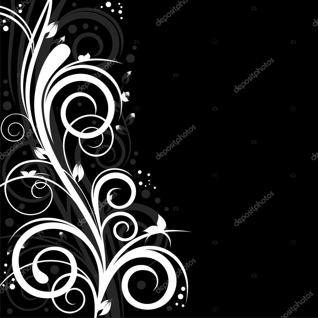 Nice abstract background with floral design and free space for Your text  Stock Vector #4245974
