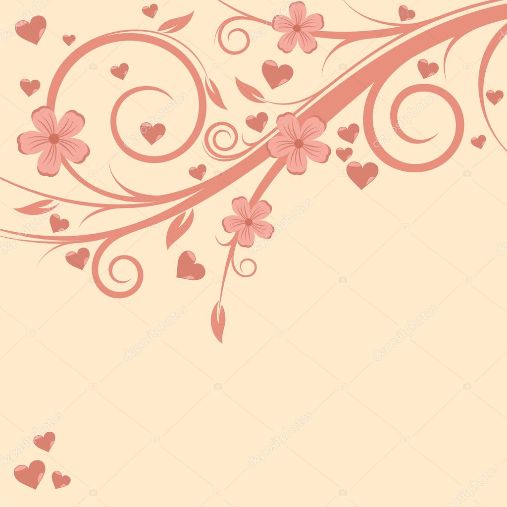 Beautiful Valentine's Card in delicate color — Stock Vector #4776631