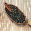 Chinese green tea tieguanyin - Stock Photo